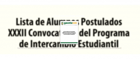 convocatoria intercambio estudiantil